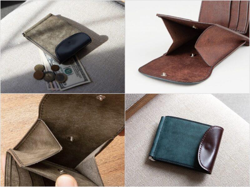 プエブロ&コードバンマネークリップの外装と内装収納ポケット