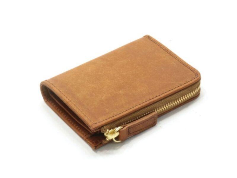 プエブロレザーLファスナー二つ折りミニ財布(sot)