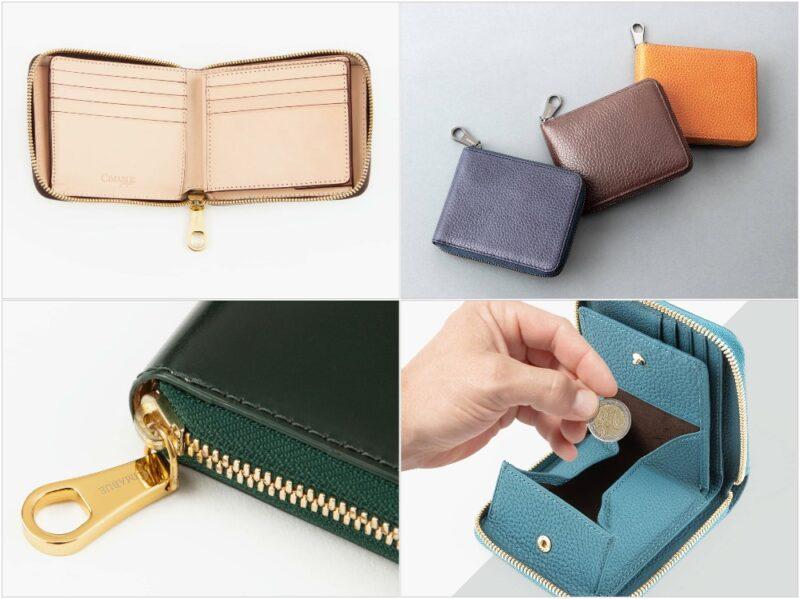 CIMABUE・各種ラウンドジップ二つ折り財布と収納ポケット