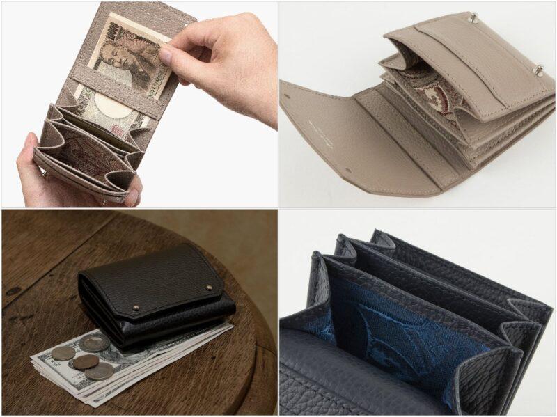 MASAMI TANAKA・Adria Leather Bill Fold Wallet(アドリアレザー二つ折り財布)の各部