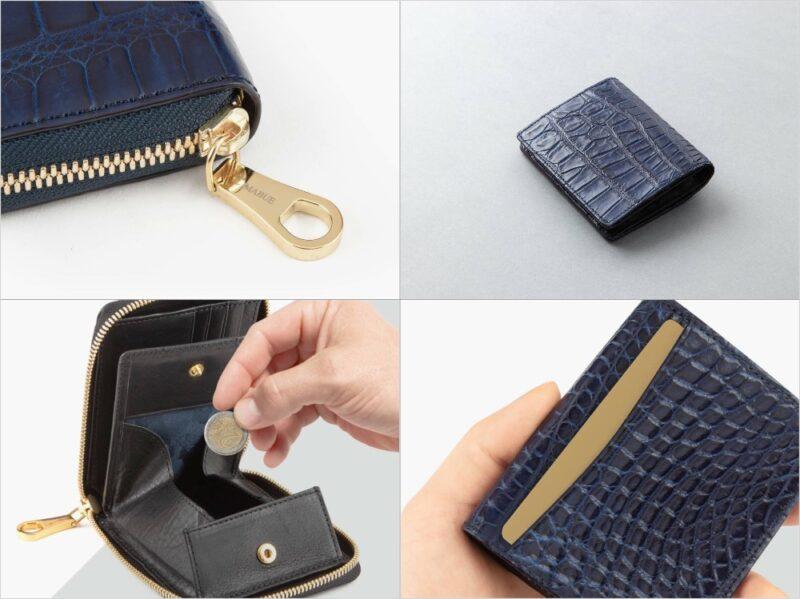 CIMABUE(チマブエ)藍染めクロコダイルシリーズの各種財布
