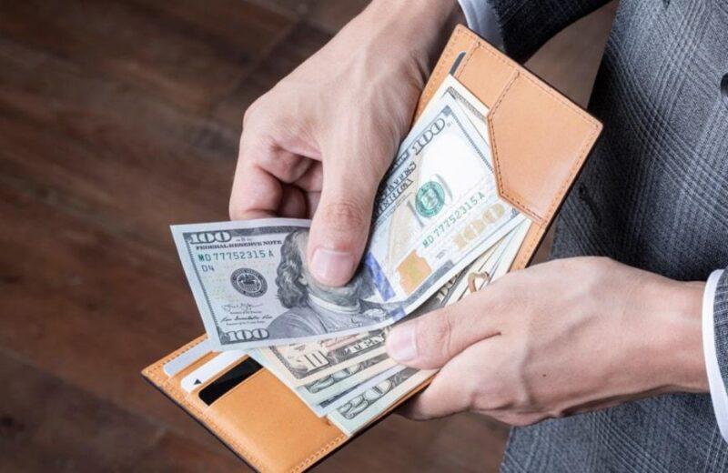 カードポケット付きマネークリップ・日本製