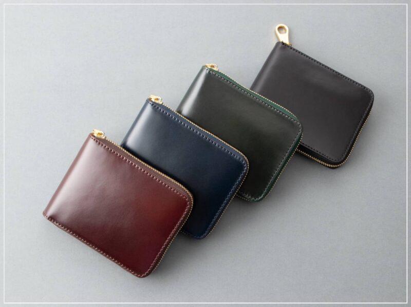 チマブエ・ラウンドジップ二つ折り財布(ボックス型小銭入れ)