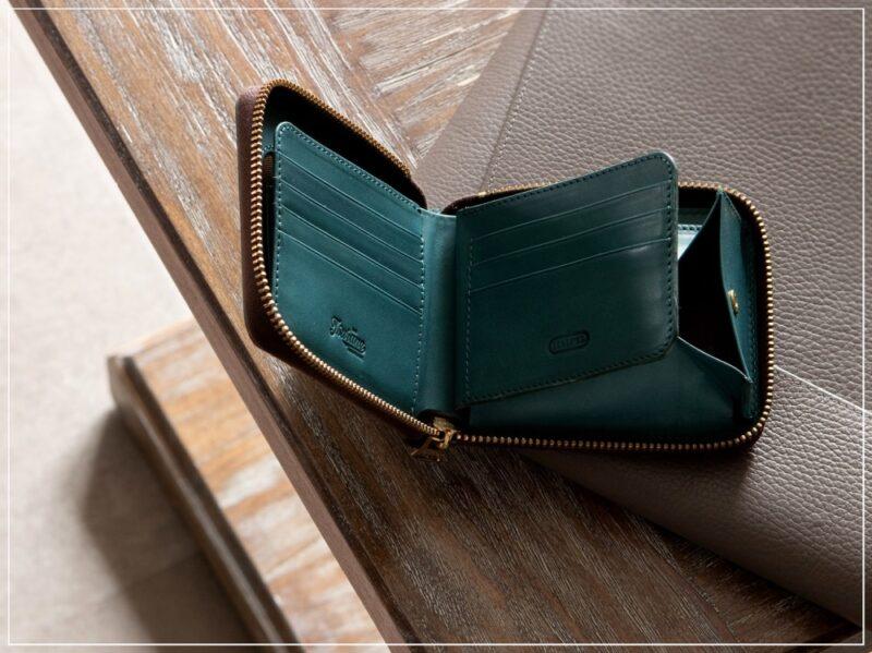 ツラネ・ミニラウンドジップ財布(ボックス型小銭入れ)