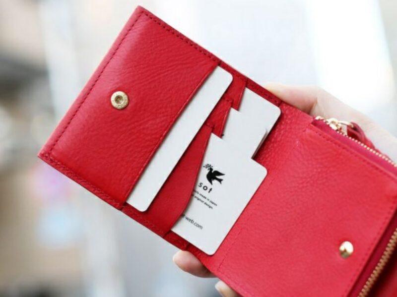 sot・ミネルバボックスレザーシリーズの財布(レッド)