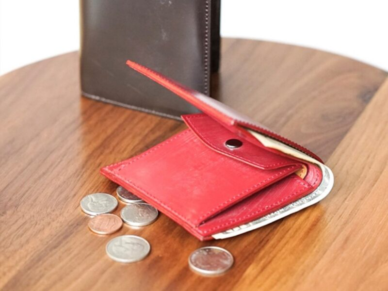 FIVE WOODS・ベーシックスレザーコレクション/ブライドルレザーシリーズの財布(レッド)
