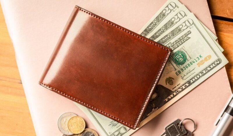 crafsto・ブライドル/シェルコードバン二つ折り財布