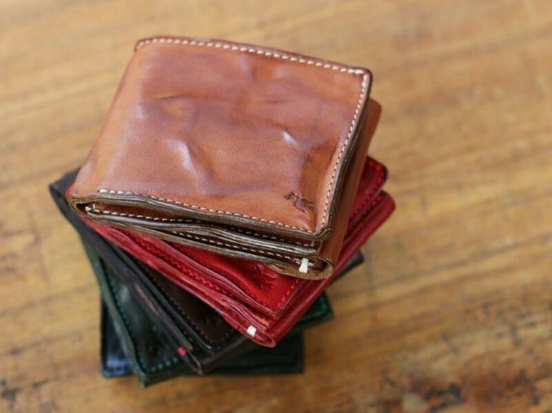 sot・ハンドウォッシュレザー二つ折り財布