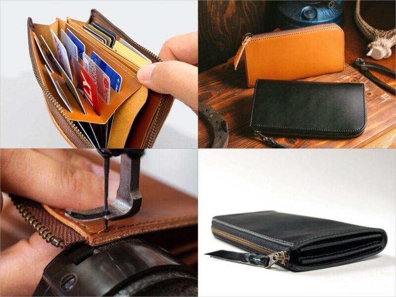 SMITH「カードが立つ」日本製栃木レザー長財布(ルバート&コー)の各部