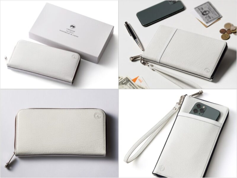 CREEZAN(クリーザン)・JETTTERシリーズの財布(強撥水・防水ホワイトゴートスキン)の各部