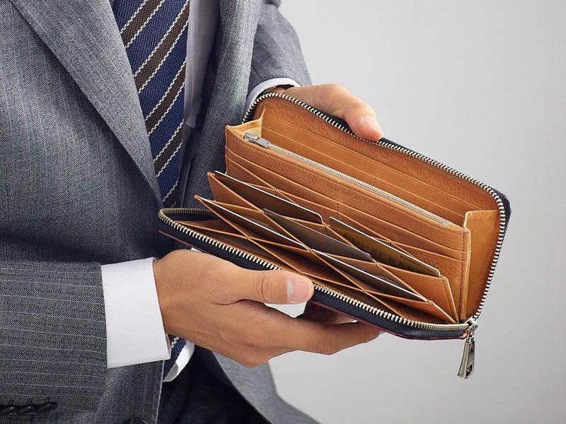 ハニーセル長財布(蜂の巣状カードポケット)