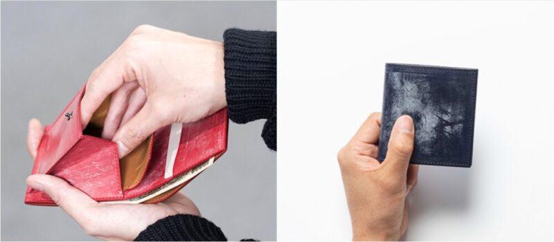 ベーシックスミニ財布(ファイブウッズ)の各部