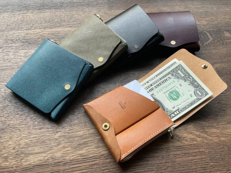 小さく薄い財布SAKU(モク)