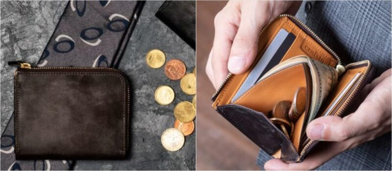 L字ファスナー財布(クラフスト)の各部