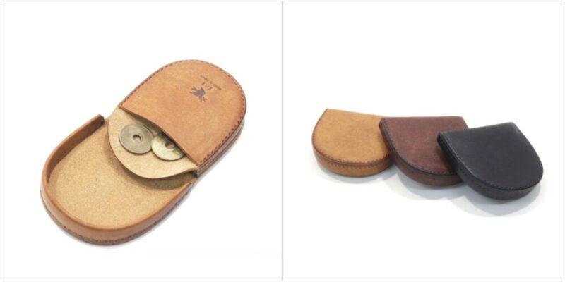 プエブロレザー馬蹄型コインケースの各部